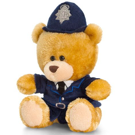 Papusa din plus Pipp the Bear Policeman 19 cm