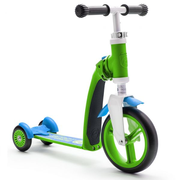 Trotineta 2-in-1 Scoot & Ride Highwaybaby 1-4 Ani; Green / Blue