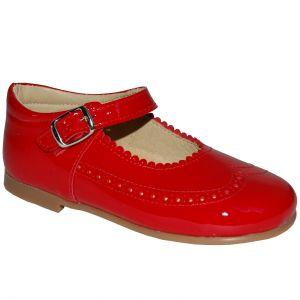 B2022 Pantofi rosii din piele lacuita