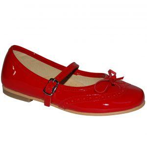E2002 Pantofi rosii din piele lacuita