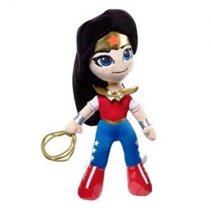 Jucarie din plus si material textil Wonder Woman, DC Super Hero Girls, 24 cm