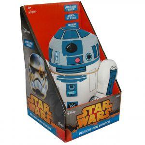 Jucarie vorbitoare din material textil, Star Wars R2D2, 20 cm