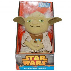 Jucarie vorbitoare din plus si material textil, Star Wars Yoda, 20 cm