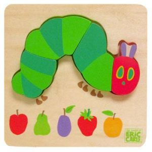 The Very Hungry Caterpillar | Joc puzzle din lemn Omida