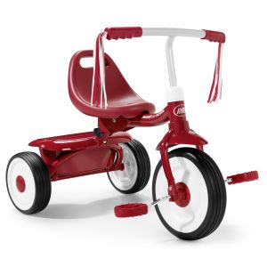 Tricicleta pliabila Radio Flyer Fold 2 Go Red, 1-3 ani