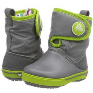CROCBAND II.5 GUST BOOT Charcoal / Volt Green
