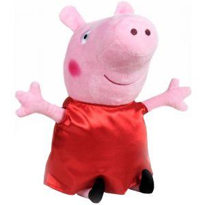 Jucarie din plus Peppa Pig cu rochie rosie din satin, 25 cm