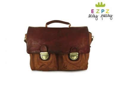 Cartable Vintage Cuir