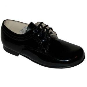 F1212 Pantofi Negri din piele lacuita