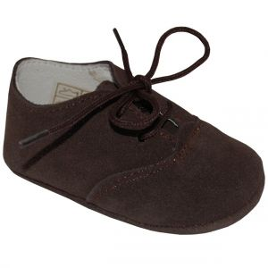 A1537 Pantofi maron din piele intoarsa