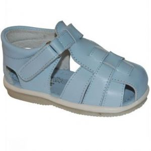 AB1006 SANDALE Bleu din piele