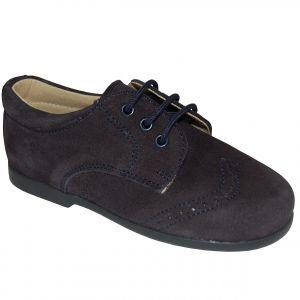 B2008 Pantofi bleumarin din piele intoarsa