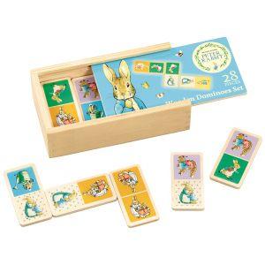Peter Rabbit | Joc Domino din lemn, 28 piese