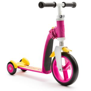 Trotineta 2-in-1 Scoot & Ride HighwayBaby+ 1-4 ani, Pink / Yellow