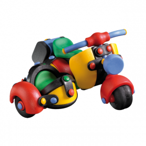 Jucarie de construit 3D Motocicleta cu atas 089.017, 12.7 cm
