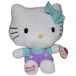 Jucarie din plus Hello Kitty cu fundita vernil, 26 cm