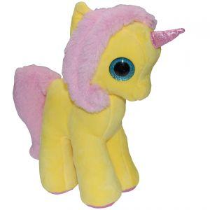 Jucarie din plus My Cute Unicorn, Galben, 28 cm