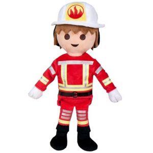 Jucarie din plus Pompier, Playmobil, 32 cm