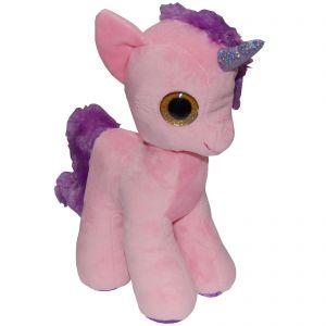 Jucarie din plus unicorn roz, 28 cm