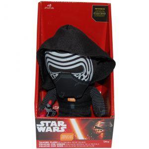 Jucarie vorbitoare din material textil, Star Wars Kylo Ren, 20 cm