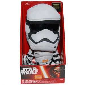 Jucarie vorbitoare din material textil, Star Wars Stormtrooper, 23 cm