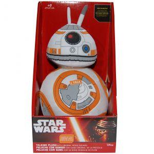 Jucarie vorbitoare din material textil, Star Wars BB-8, 20 cm