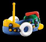 Jucarie de construit 3D Barca 089.003, 12.5 cm