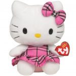 Jucarie din plus Hello Kitty Pink Kilt, 14 cm