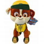 Jucarie din plus Rubble, Paw Patrol Jungle Rescue, 27 cm