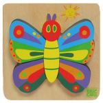 The Very Hungry Caterpillar | Joc puzzle din lemn Fluture