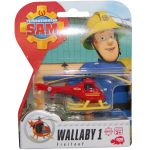 Elicopter metalic Wallaby 1, Sam Fireman, 8 cm