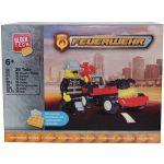 Jucarie de construit masina de pompieri, 36 piese, BlockTech