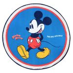 Prosop rotund pentru plaja, Mickey Mouse, 140 cm