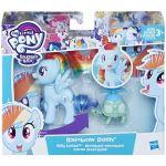 Set 2 figurine Rainbow Dash Silly Looks, 4 / 8 cm, My Little Pony