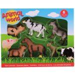 Set 6 figurine din cauciuc - Animale domestice