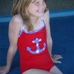 Costum de baie Red Anchor
