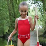Costum de baie Red Belted