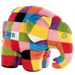 Jucarie din plus Elefantul Elmer, 25 cm