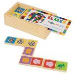 Elmer | Joc Domino din lemn, 28 piese