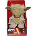 Jucarie vorbitoare din plus si material textil, Star Wars Yoda, 21 cm