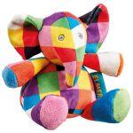 Jucarie zornaitoare din plus Elefantul Elmer, 14 cm